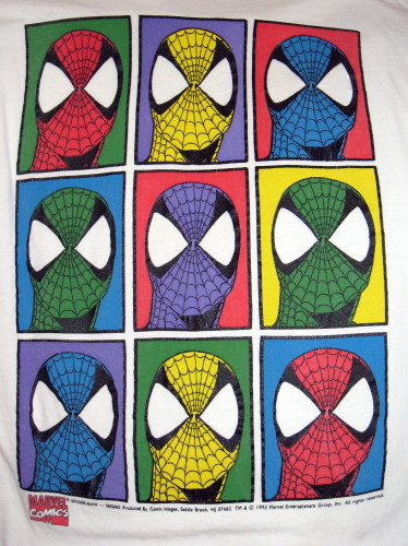 Spider-Man Andy Warhol Shirt
