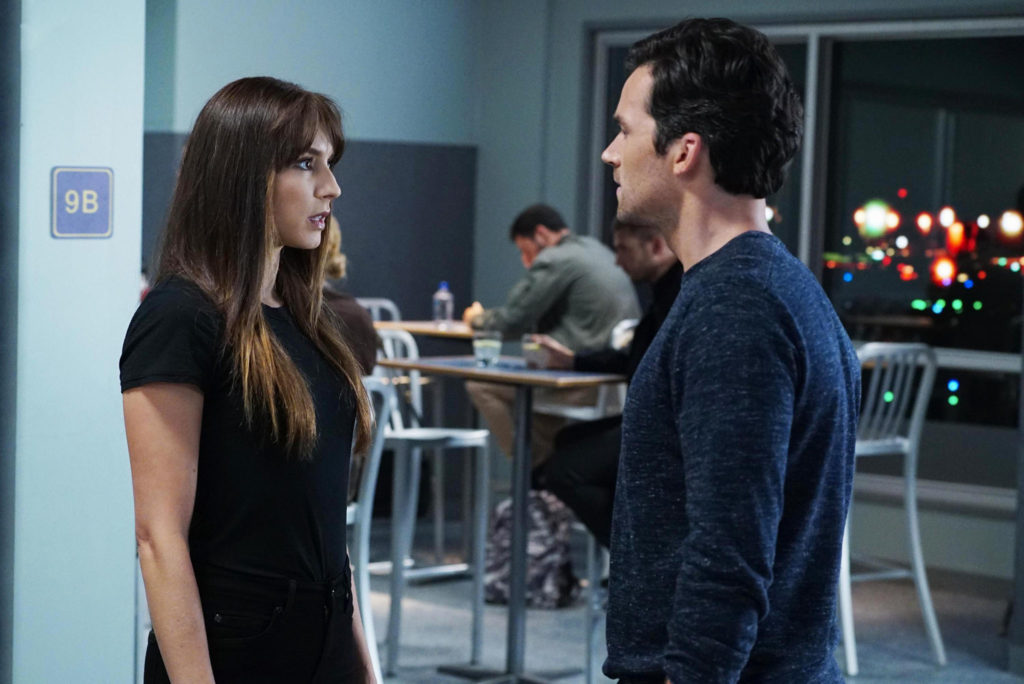 Spencer confronts Ezra in a scene from Pretty Little Liars Season 7 Episode 15.