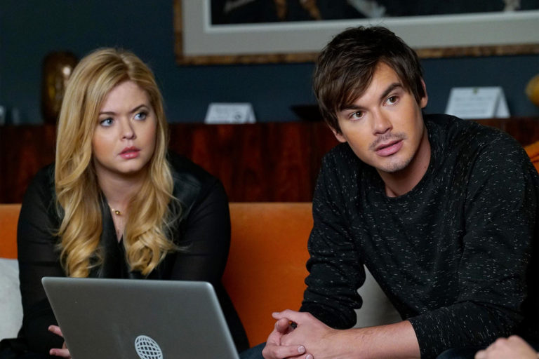 Ali and Caleb in a scene from Pretty Little Liars Season 7 Episode 18
